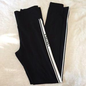 Victoria's Secret Striped Logo Leggings